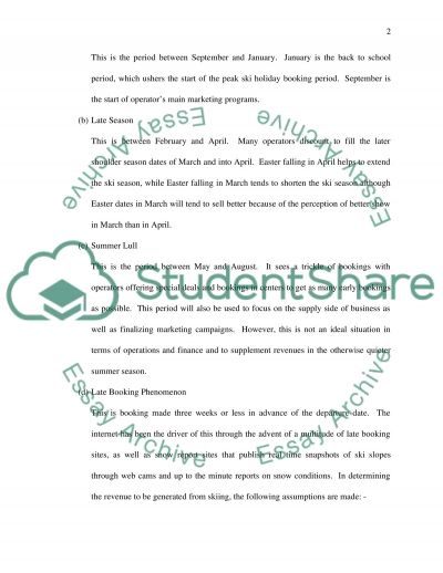 Sports Tour Business Research Paper example