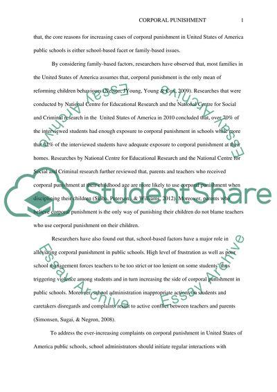 Discipline: State Laws on Corporal Puinshment/students conduct/discipline in U.S public schools
