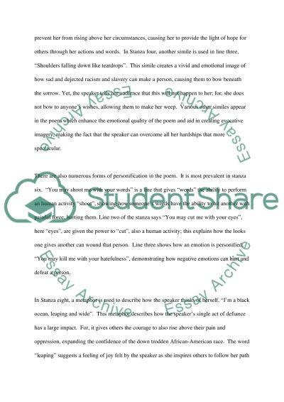 Poem essay example