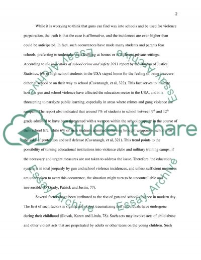 Guns and school violence essay example