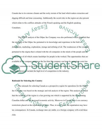 Global Business Plan Essay
