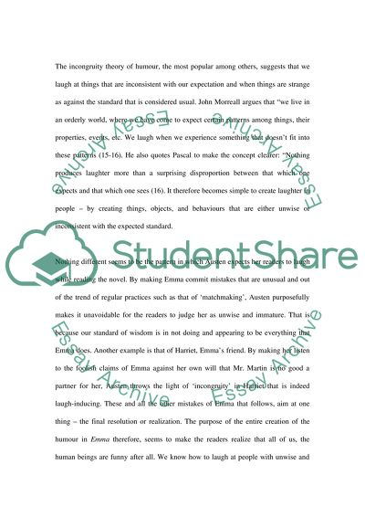 Research Paper for Funny Fiction course