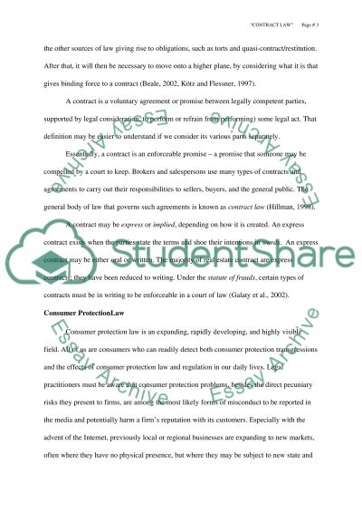 Consumer protection law essay example