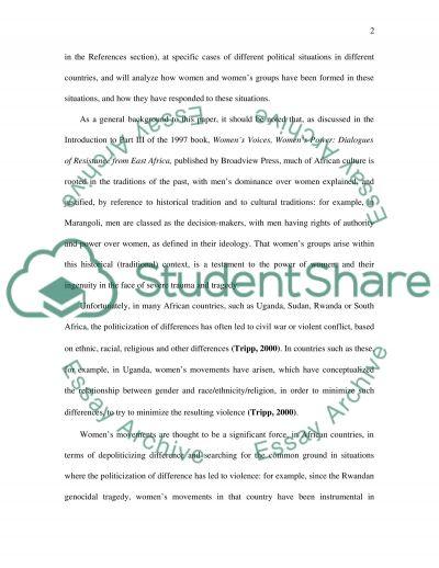 Women and Development essay example