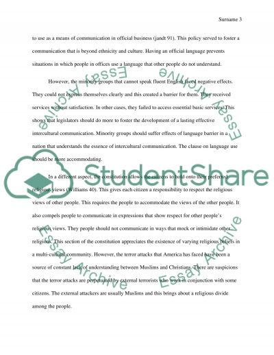 the u s constitution promotes intercultural communication essay text