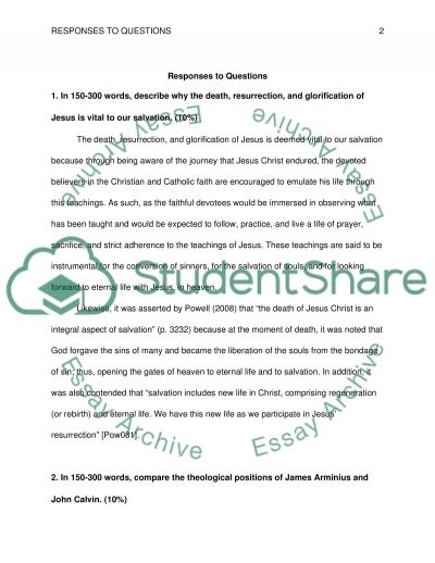 Answer the 4 questions from the provided uploaded information and the provided book essay example