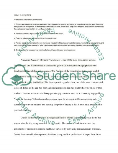 Professional Associations Membership essay example