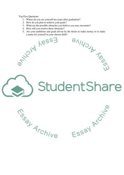 Student Interview/Intra Descipline