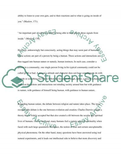 Human Nature essay example