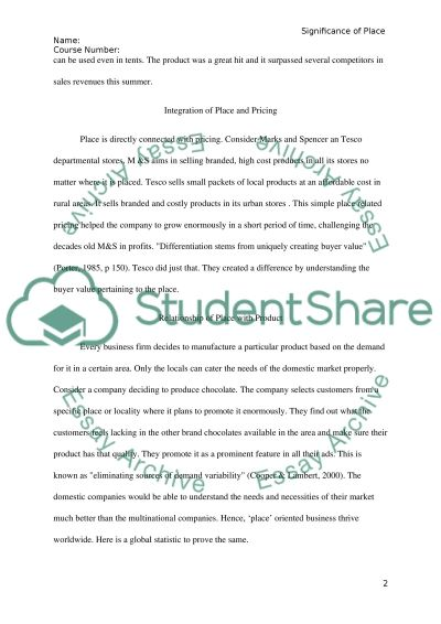 Marketing and Sales essay example