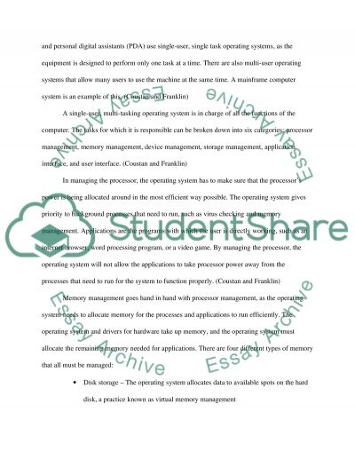 Operating system as a heart of the computer essay example