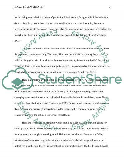 Legal homework 3B essay example
