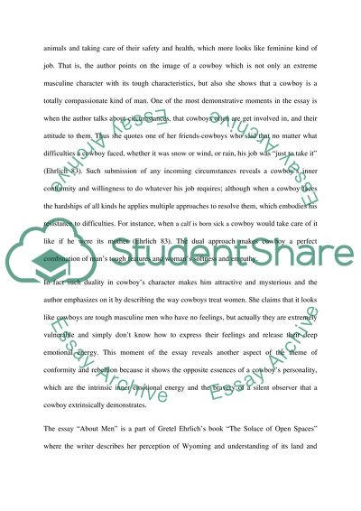 Topic: Analysis of a Creative Non-Fiction Essay