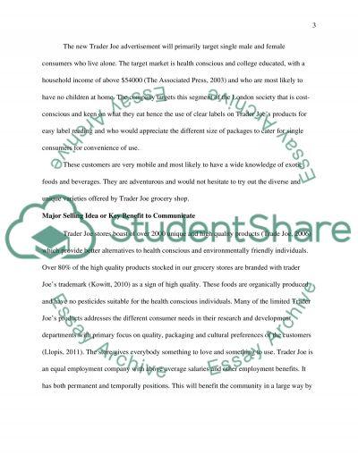 Advertising Individual CW essay example