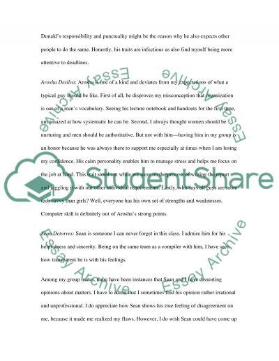 Classmates Evaluation