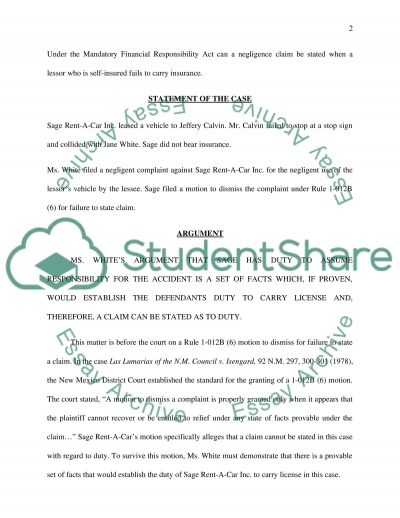 Trial court brief Essay example
