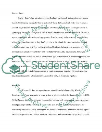 Bauhaus technology essay essay example