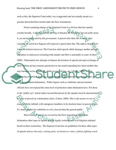 first amendment essay example  topics and well written essays
