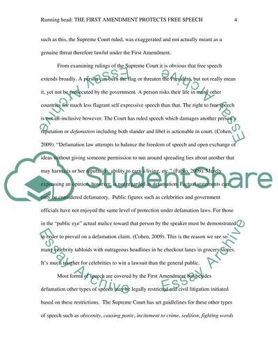 First Amendment Essay Example  Topics And Well Written Essays    First Amendment