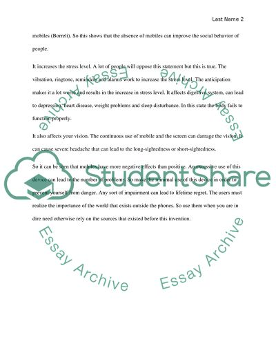 Cause and effect of cell phone essays popular school assignment advice