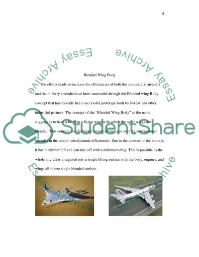 Forces in Aerodynamics: Blended Wing Body essay example