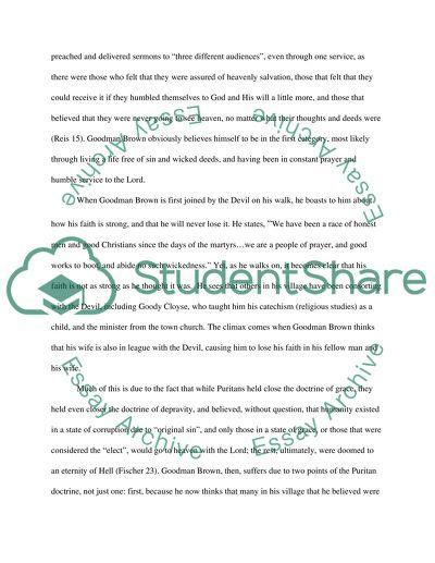 Massachusetts Puritans English Research Paper