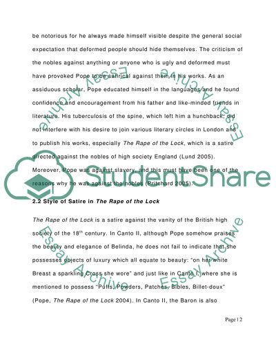 18th 20th century satirical essay apa reference format research paper
