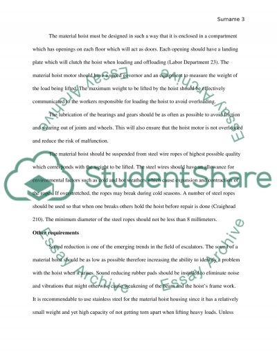 Building and construction Safety Technology essay example