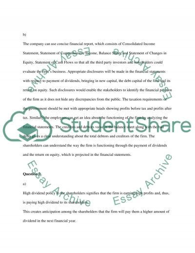 Finance Policy essay example