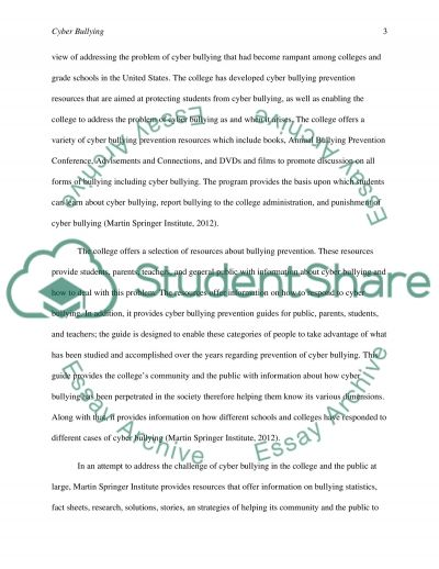 Cyber Bullying essay example
