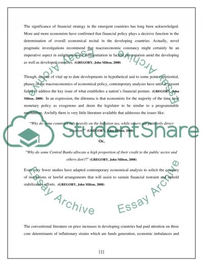 Financial Strategy in the Emergent Countries essay example