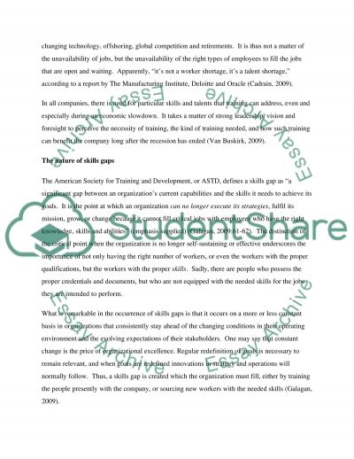 Training during global recession essay example