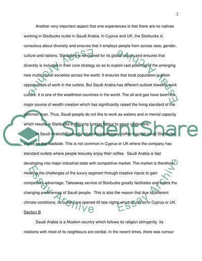 Essay on starbucks