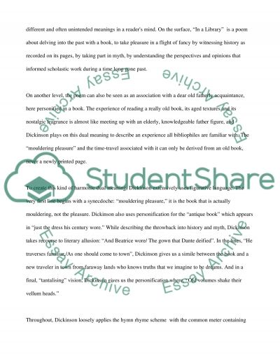 Emily Dickinsons In A Library essay example