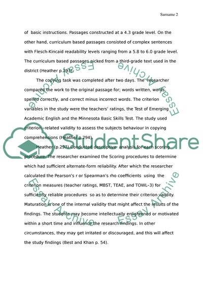 Analysis of the Article About The Students Writing Abilities