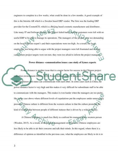 Literature based case studies of challenges of international project in China essay example