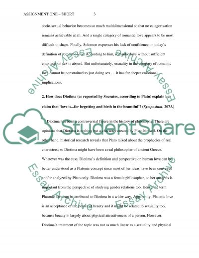 Short answer essay example
