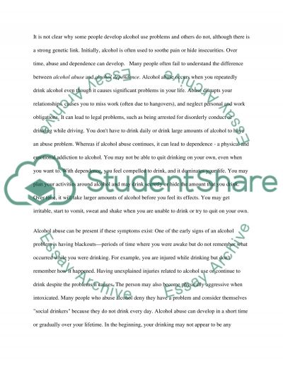 Substance abuse term essay example