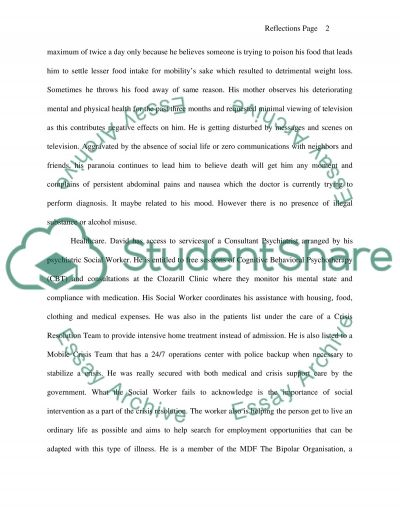 Reflections on patient care essay example