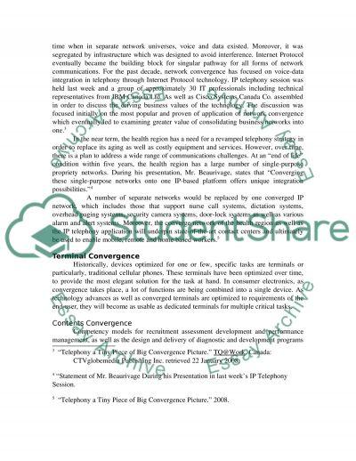 Convergence essay example