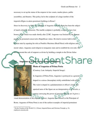 Greek and Roman Sculptures