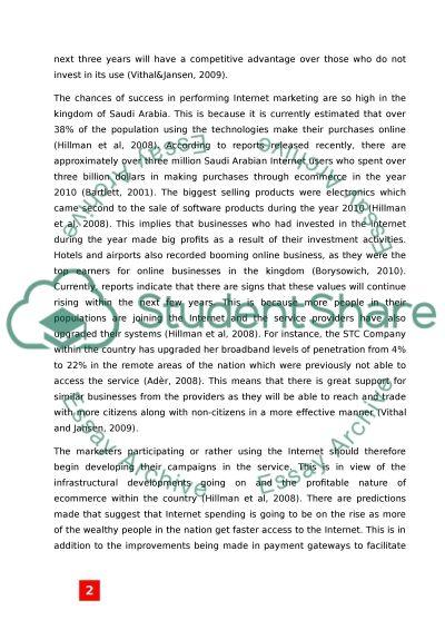Social Media and Mobile Search Marketing in Saudi Arabia essay example