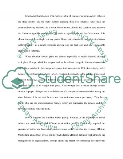 Managing Motivation within an Union Setting essay example
