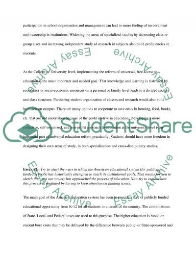 School programs essay example