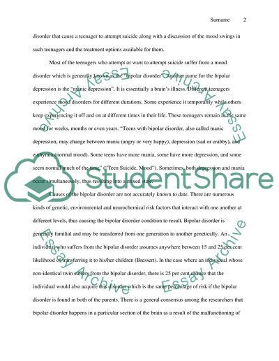 Teen Suicide Paper