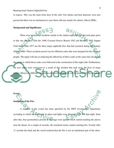 College Chemistry Help Station Nightclub Fire Modest Proposal Essay also English Class Reflection Essay Station Nightclub Fire Research Paper Example  Topics And Well  Business Plan Writer Wanted