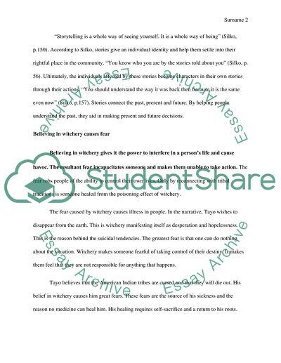 ceremony leslie marmon silko essay topics