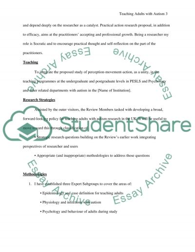 Teaching Adults with Autism essay example