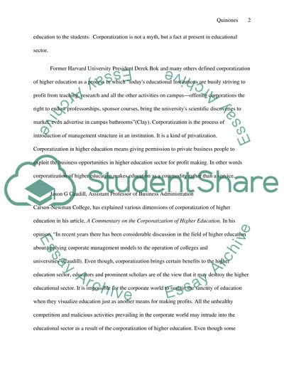 Corporatization in higher education: Negative effects of corporatization in colleges and universities