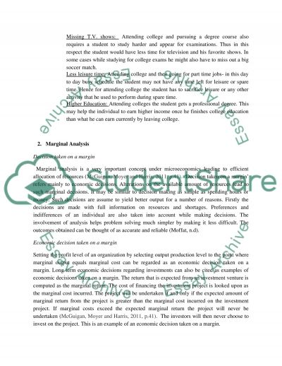 Opportunity Cost Of Going To College Marginal Analysis Essay Autobiography Essay Examples Animal Testing Essay Thesis Opportunity Cost Of Going To College Marginal Analysis Essay College Goals Essay also 5 Ways To Write A Satire Essay